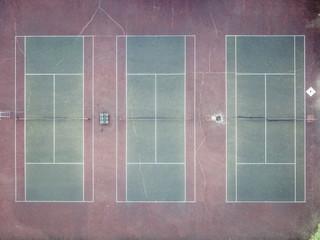 aerial top down tennis sport ground court empty