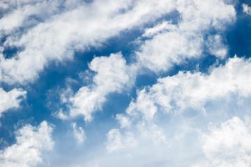 Clouds in the blue sky of Brazil