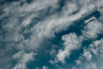 Clouds in the blue sky of Brazil
