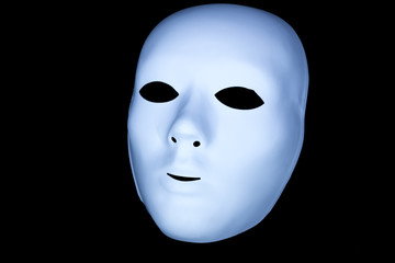 Sfondo con maschera bianca