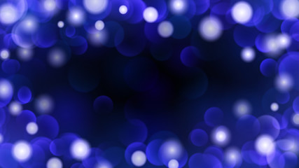 Abstract dark background with bokeh effects in blue colors