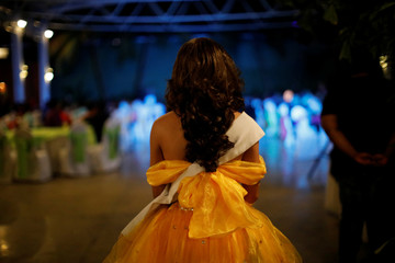 A contestant of Miss Gay Nicaragua 2018 waits to perform at a hotel in Managua