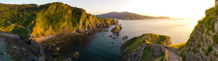 Sunset in San Juan de Gaztelugatxe, Basque Country