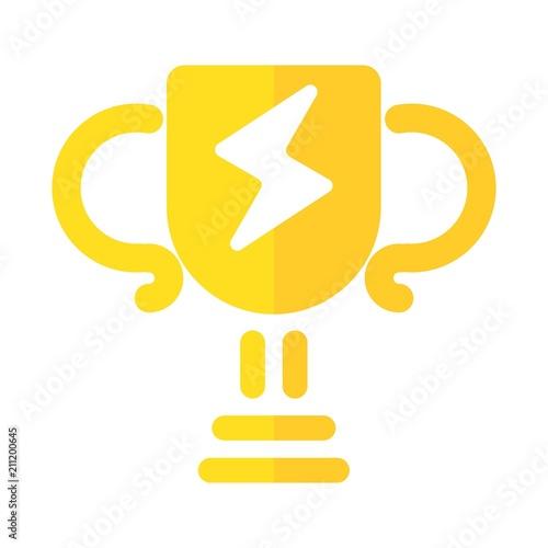 trophy logo  winner icon  champion symbol  vector eps 08