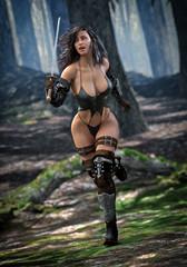 Beautiful Warrior Princess