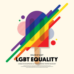 LGBT community poster template background