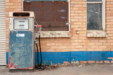 Old disused gas pump, rural Australia