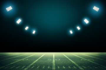 American Soccer Stadium 3d rendering. Mixed photos