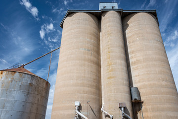 Grain silos in rural Victoria Australia