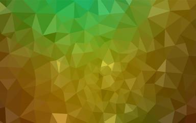 Light Green, Yellow vector abstract mosaic backdrop.