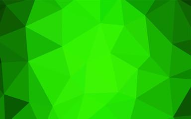Light Green vector abstract polygonal template.
