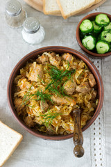 A traditional dish of some European countries is bigos made from cabbage, other vegetables and meat.