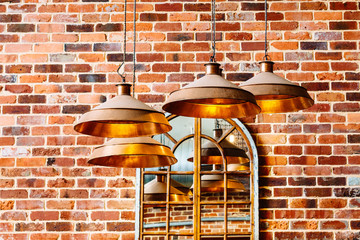 modern copper lights