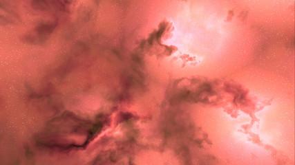 red space nebula clouds