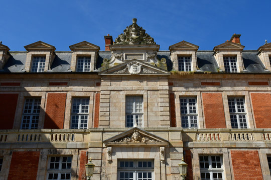 Chamarande; France - june 3 2018 : castle