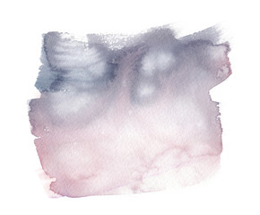 Light grey to pale pink gradient painted in watercolor on clean white background