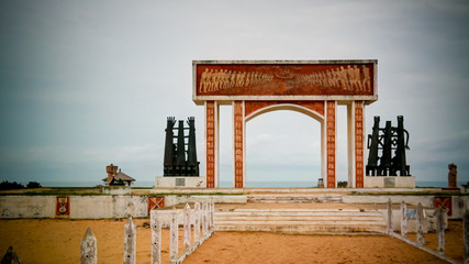 Architecture arch Door of No Return, Ouidah, Benin