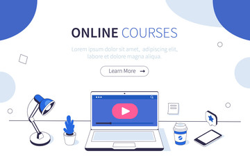 Fototapeta online courses obraz
