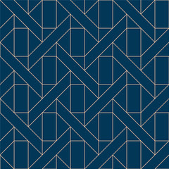 Blue geometric pattern vector. Green line background. Retro graphic elements.