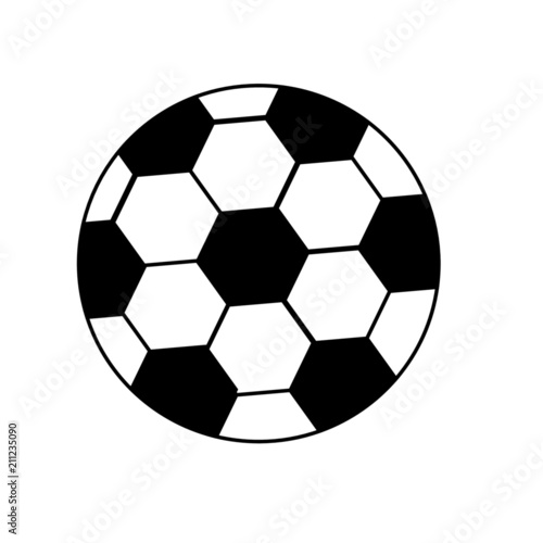 Fussball In Schwarz Weiss Stock Image And Royalty Free Vector