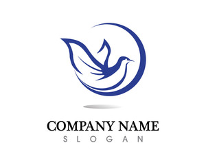 Bird wing Dove Logo Template vector illustration