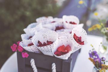 Rosenblüten Dekoration zum Werfen