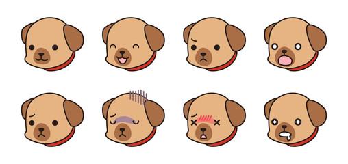 喜怒哀楽 犬の表情セット