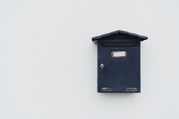 Mailbox on the white wall
