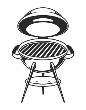 Vintage open barbecue grill concept
