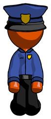 Orange Police Man kneeling front pose