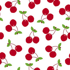 Fototapete - Bright seamless pattern with cherry