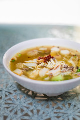 Malaysian mixed meat noodle soup