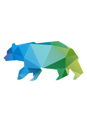 geometric colored bear