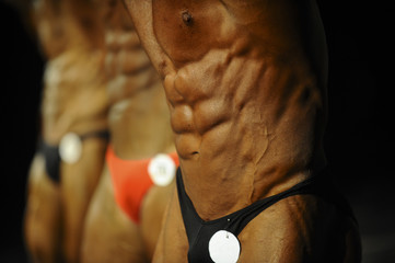 athletes bodybuilders are sideways strain of thigh muscles at competition