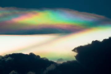 Cloud iridescence, diffraction phenomenon produce very vivid color and make cloud shine like a corona