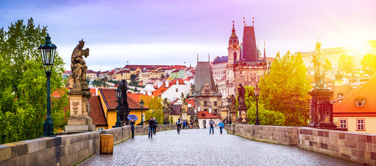 Foto op Textielframe Praag Prague is the capital of the Czech Republic, the European state. Historical sights.