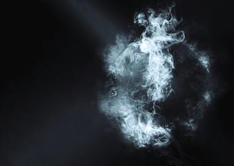 球体から煙が上がる
