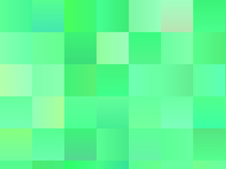 Abstract geometric background with squares. Green color. Vector illustration