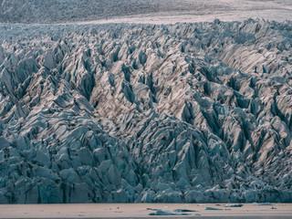 glacier lagoon in iceland. jokulsarlon lagoon beautfiul shaped icebergs