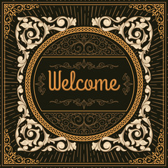 Decorative vintage welcome sign