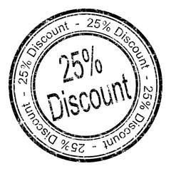 25% Discount rubber stamp - illustration