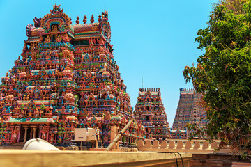 Foto auf Leinwand Tempel Temple of Sri Ranganathaswamy in Trichy.