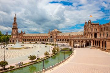 Plaza of Spain (Plaza de Espana), Seville, Andalusia, Spain