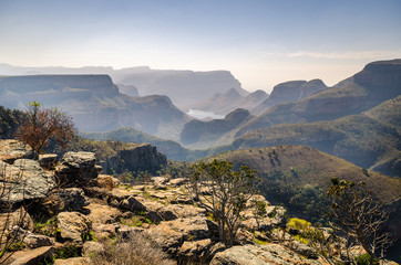 Blyde river canyon,  viewpoint to the canyon. Mpumalanga near Graskop. South Africa
