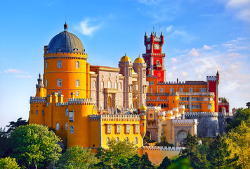 Palace of Pena in Sintra. Lisbon, Portugal. Famous landmark. Fototapete