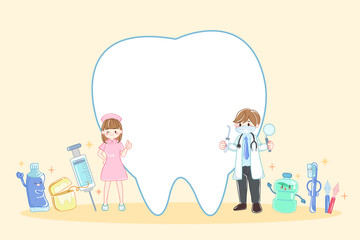 doctor with tooth dental concept