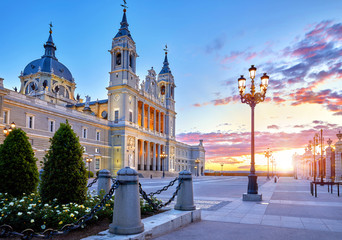 Photo sur cadre textile Madrid Madrid, Spain. Cathedral Santa Maria la Real de Almudena