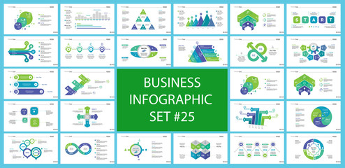 Set of teamwork and statistics concept infographic charts. Business diagrams for presentation slide templates. For corporate report, advertising, banner and brochure design.