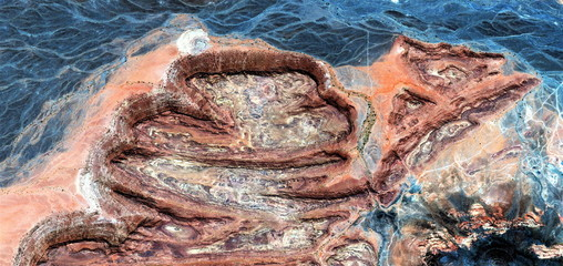 the corpse,abstract photography of the deserts of Africa from the air, bird's eye view, abstract expressionism, contemporary art, optical illusions,