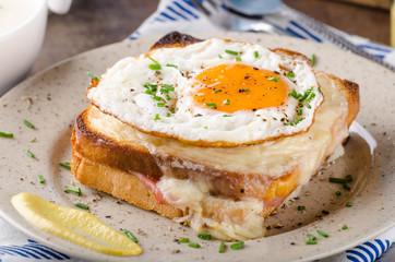 Croque madame sandwich, delish food